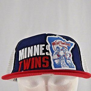 Minnesota Twins Red/White/Blue Trucker Style Baseb